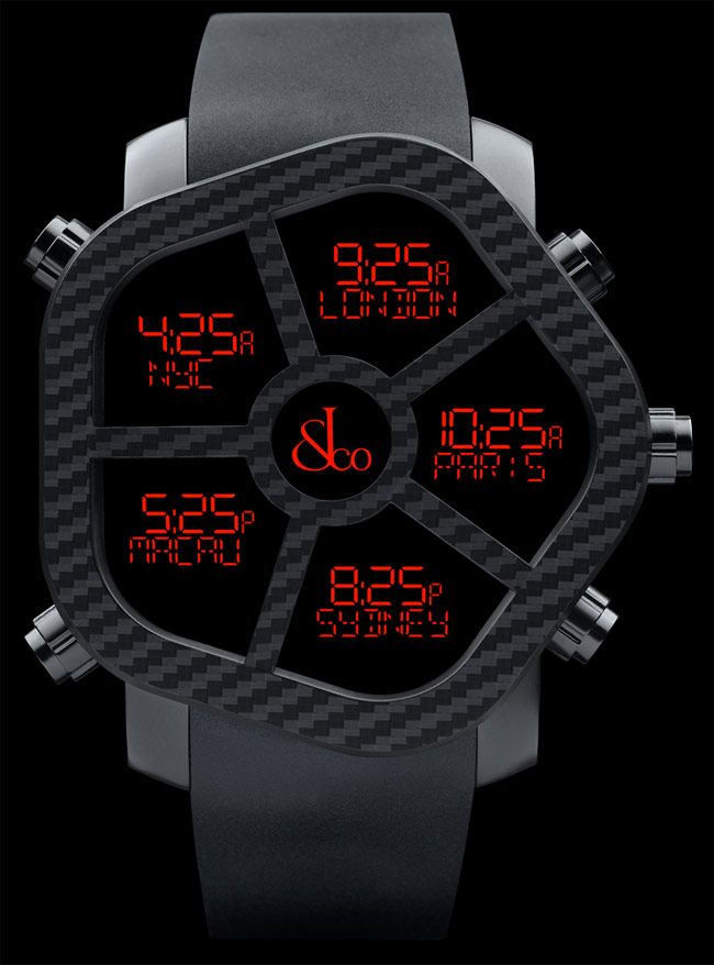 Nuevo Blacked Concepto FantasmaLo El Reloj En Out Fibradecarbono es TF1JuclK35